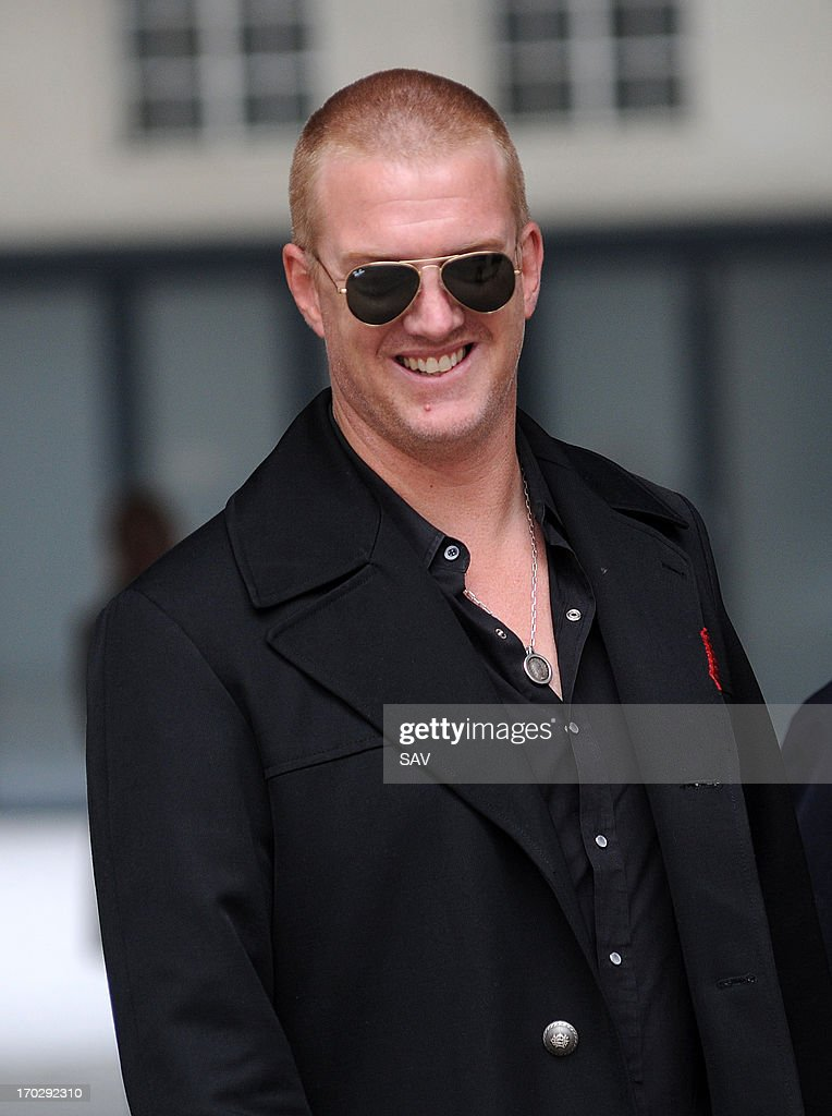Josh Homme pictured at the BBC Radio studios on June 10, 2013 in London, England.