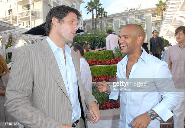 Josh Hopkins and Amaury Nolasco during 20th Century Fox Television Producers and Stars Party at Shutters on the Beach in Venice California United...