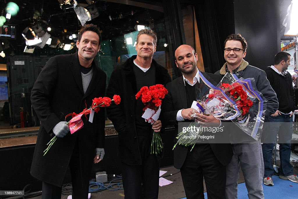 Josh Hopkins, Brian Van Holt, Ian Gomez And Dan Byrd Hand Out Roses To