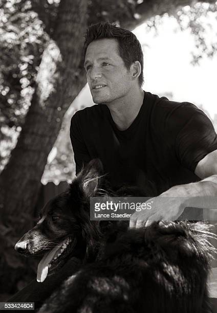 Josh Hopkins with his rescue dog Maxwell