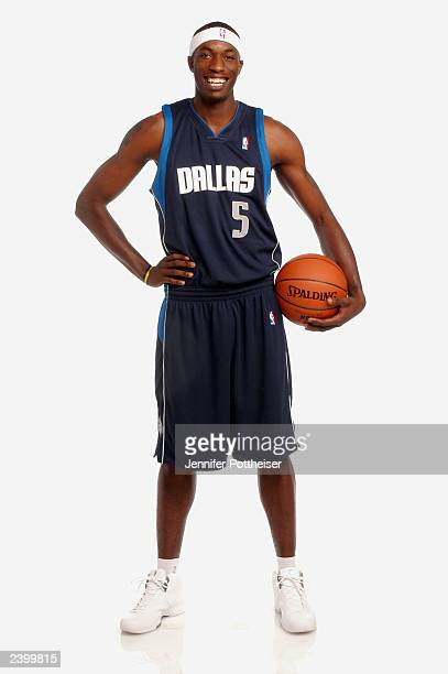 Josh Howard of the Dallas Mavericks poses during a NBA rookie photo shoot at the MSG training facility in Tarrytown New York on August 7 2003 NOTE TO...