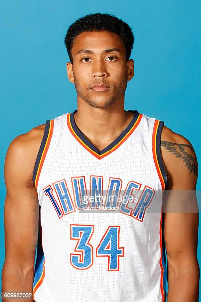 Josh Huestis of the Oklahoma City Thunder poses for a head shot during 2016 NBA Media Day on September 23 2016 at the Chesapeake Energy Arena in...