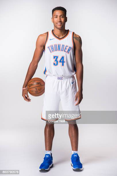 Josh Huestis of the Oklahoma City Thunder poses for a photo during media day at Chesapeake Energy Arena on September 25 2017 in Oklahoma City...