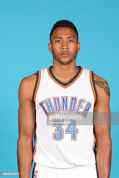 Josh Huestis of the Oklahoma City Thunder poses for a portrait during 2015 NBA Media Day on September 28 2015 at the Thunder Events Center in Edmond...