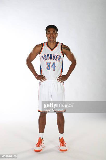 Josh Huestis of the Oklahoma City Thunder poses for a portrait during 2016 NBA Media Day on September 23 2016 at the Chesapeake Energy Arena in...