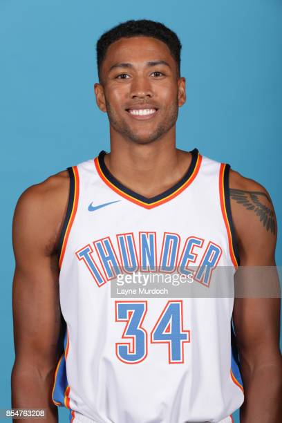 Josh Huestis of the Oklahoma City Thunder poses for a portrait during 2017 NBA Media Day on September 25 2017 at the Chesapeake Energy Arena in...