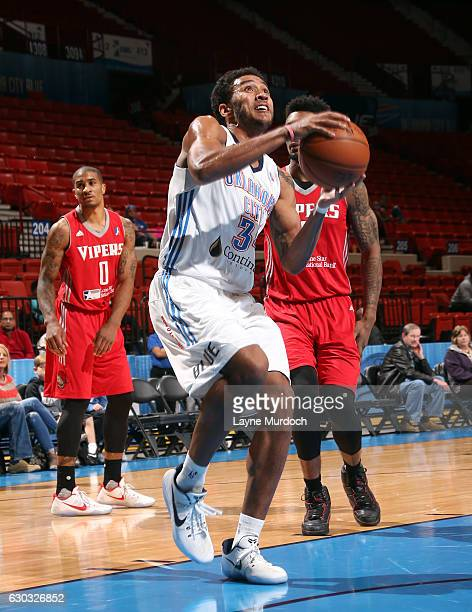 Josh Huestis Oklahoma City Blue looks to shoot against the Rio Grande Valley Vipers during an NBA DLeague game on December 20 2016 at the Cox...
