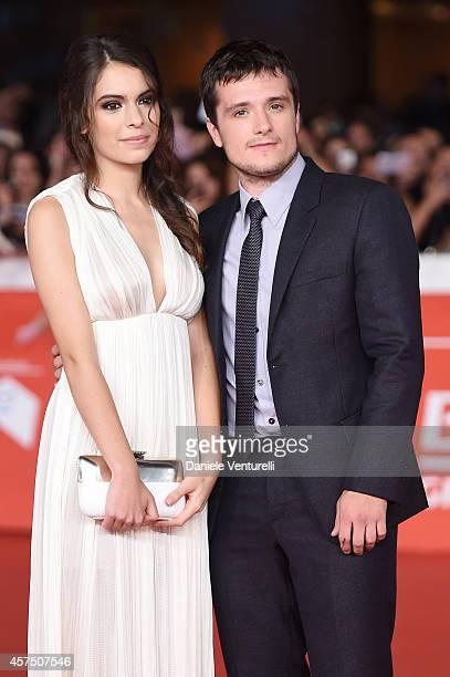 Josh Hutcherson and Claudia Traisac attend 'Escobar Paradise Lost' Red Carpet during the 9th Rome Film Festival at Auditorium Parco Della Musica on...
