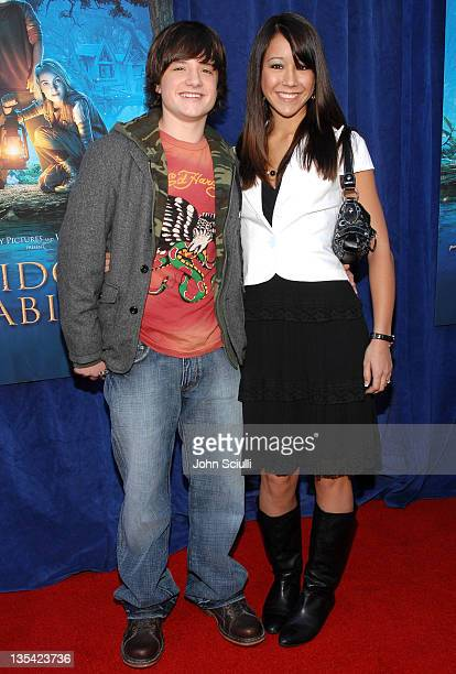 Josh Hutcherson and guest during 'Bridge to Terabithia' Los Angeles Premiere Arrivals at El Capitan Theater in Hollywood California United States