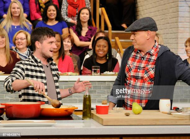 THE CHEW Josh Hutcherson and Suzanne Somers are guests Wednesday November 15 2017 on ABC's The Chew The Chew airs MONDAY FRIDAY on the ABC Television...