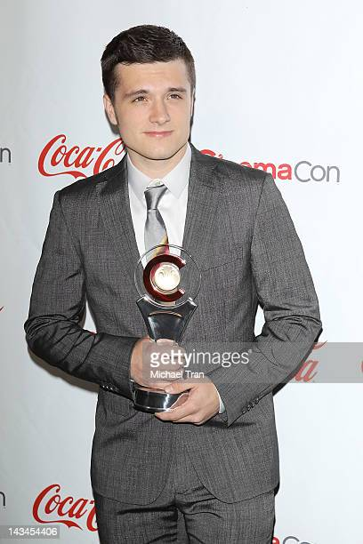 Josh Hutcherson arrives at CinemaCon Big Screen Achievement Awards ceremony during CinemaCon 2012 held at The Colosseum at Caesars Palace on April...