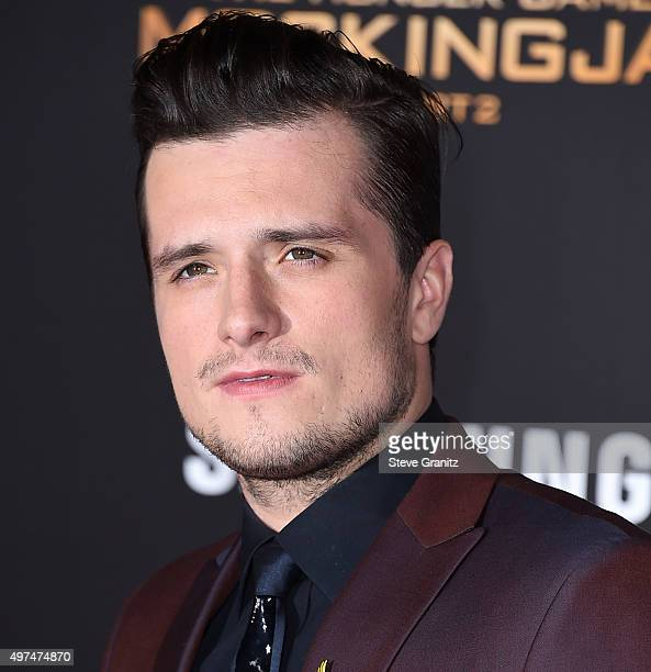 Josh Hutcherson arrives at the Premiere Of Lionsgate's The Hunger Games Mockingjay Part 2 at Microsoft Theater on November 16 2015 in Los Angeles...