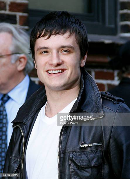 Josh Hutcherson arrives for 'The Late Show with David Letterman' at Ed Sullivan Theater on March 20 2012 in New York City
