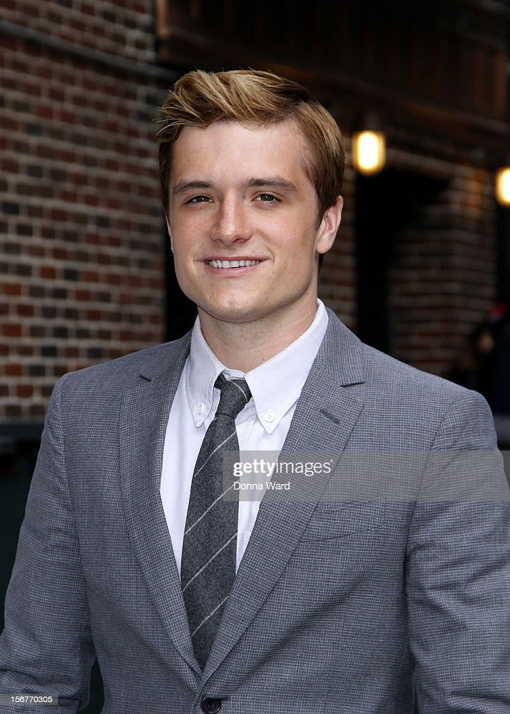 Josh Hutcherson arrives for 'The Late Show with David Letterman' at Ed Sullivan Theater on November 20, 2012 in New York City.