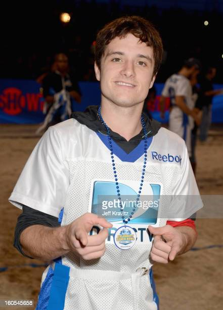 Josh Hutcherson attends DIRECTV'S 7th Annual Celebrity Beach Bowl at DTV SuperFan Stadium at Mardi Gras World on February 2 2013 in New Orleans...