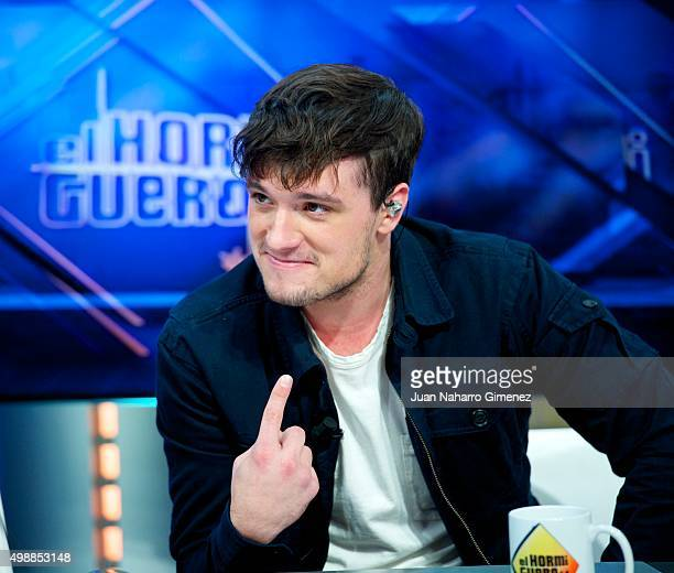 Josh Hutcherson attends 'El Hormiguero' Tv show at Vertice Studio on November 26 2015 in Madrid Spain