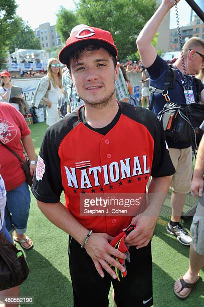 Josh Hutcherson attends the 2015 MLB AllStar Legends And Celebrity Softball Game at Great American Ball Park on July 12 2015 in Cincinnati Ohio