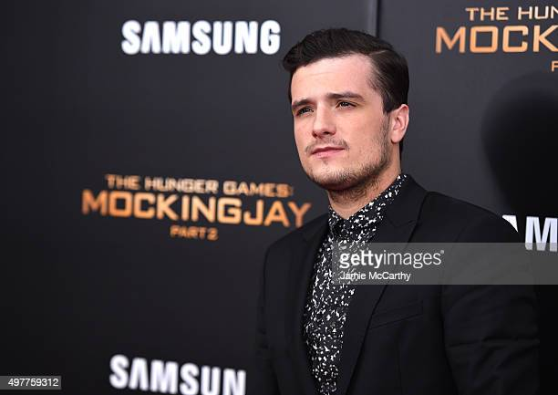 Josh Hutcherson attends 'The Hunger Games Mockingjay Part 2' New York Premiere at AMC Loews Lincoln Square 13 theater on November 18 2015 in New York...