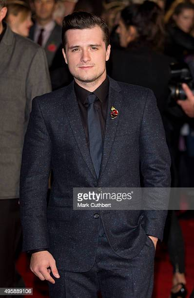 Josh Hutcherson attends The Hunger Games Mockingjay Part 2 UK premiere at Odeon Leicester Square on November 5 2015 in London England