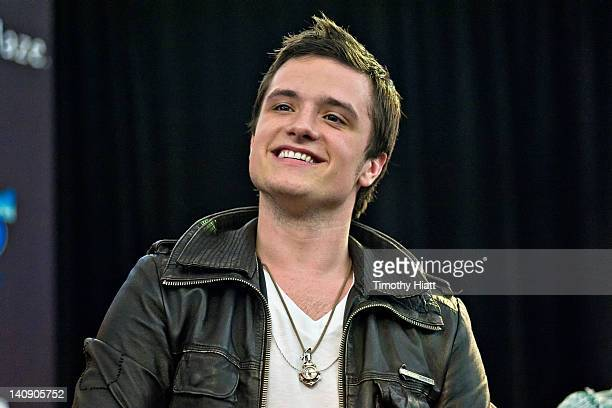 Josh Hutcherson attends The Hunger Games National Mall Tour fan event at the Westfield Fox Valley Mall on March 7 2012 in Aurora Illinois