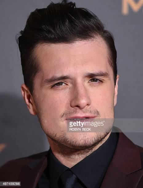 """Josh Hutcherson attends the premiere of """"The Hunger Games: Mockingjay - Part 2"""" at the Microsoft Theater in Los Angeles, California, November 16,..."""