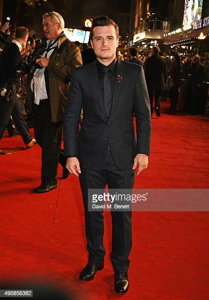Josh Hutcherson attends the UK Premiere of 'The Hunger Games Mockingjay Part 2' at Odeon Leicester Square on November 5 2015 in London England