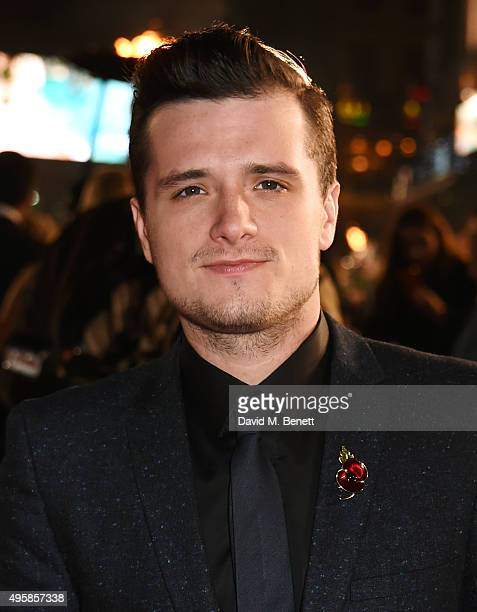 Josh Hutcherson attends the UK Premiere of The Hunger Games Mockingjay Part 2 at Odeon Leicester Square on November 5 2015 in London England