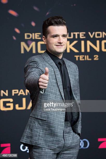 Josh Hutcherson attends the world premiere of the film 'The Hunger Games Mockingjay Part 2' at CineStar on November 4 2015 in Berlin Germany