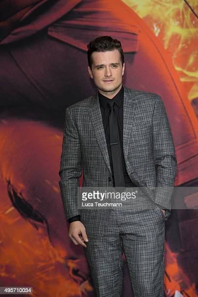 Josh Hutcherson attends the world premiere of the film 'The Hunger Games: Mockingjay - Part 2' at CineStar on November 4, 2015 in Berlin, Germany.