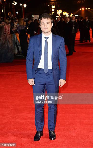 Josh Hutcherson attends the World Premiere of The Hunger Games Mockingjay Part 1 at Odeon Leicester Square on November 10 2014 in London England