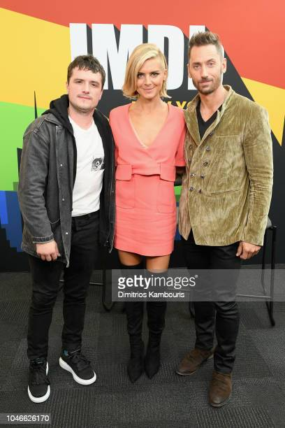 Josh Hutcherson Eliza Coupe and Derek Wilson of 'Future Man' attend IMDb at New York Comic Con Day 2 at Javits Center on October 6 2018 in New York...