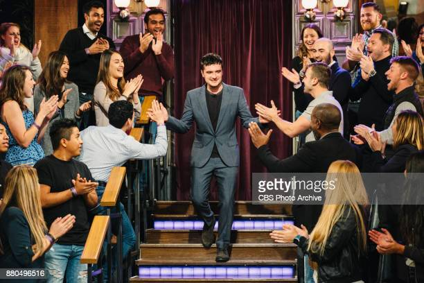 Josh Hutcherson greets the audience during 'The Late Late Show with James Corden' Monday November 20 2017 On The CBS Television Network