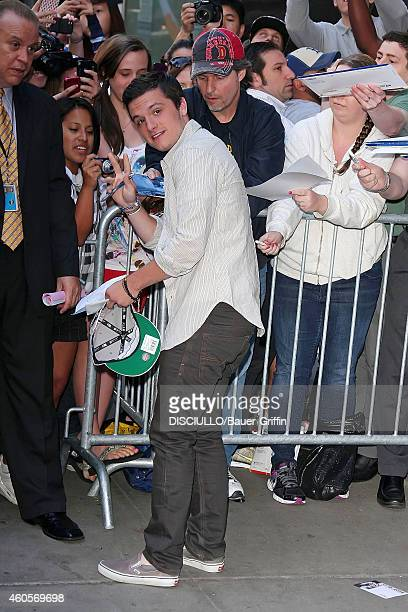 Josh Hutcherson is seen signing autographs on June 26 2012 in New York City