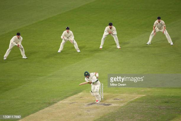 Josh Inglis of Australia bats during the Four Day match between Australia A and the England Lions at Melbourne Cricket Ground on February 23 2020 in...