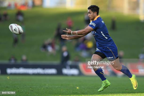 Josh Ioane of Otago passes during the round four Mitre 10 Cup match between Hawke's Bay and Otago at McLean Park on September 10 2017 in Napier New...