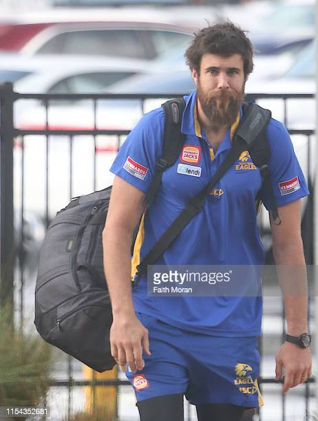 Josh J Kennedy of the West Coast Eagles Football Club is seen departing from Perth Airport for Sydney Australia on the 7th June 2019