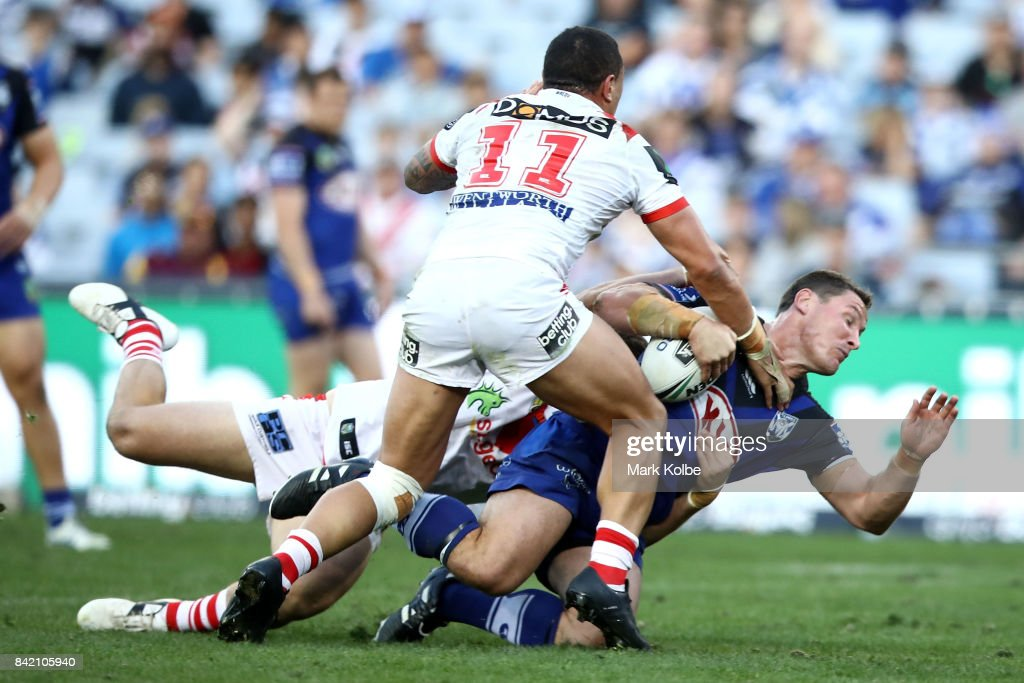 Josh Jackson of the Bulldogs during the round 26 NRL match between the St George Illawarra Dragons and the Canterbury Bulldogs at ANZ Stadium on September 3, 2017 in Sydney, Australia.