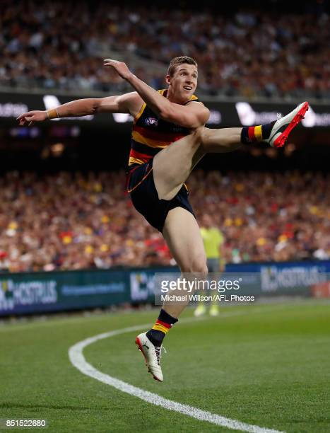 Josh Jenkins of the Crows in action during the 2017 AFL First Preliminary Final match between the Adelaide Crows and the Geelong Cats at Adelaide...