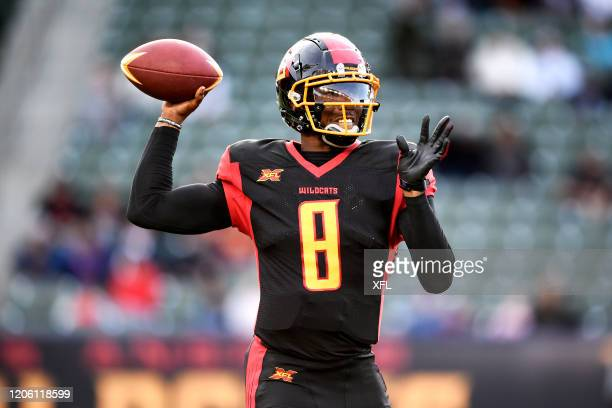 Josh Johnson of the LA Wildcats passes the ball during the XFL game against the Tampa Bay Vipers at Dignity Health Sports Park on March 8, 2020 in...