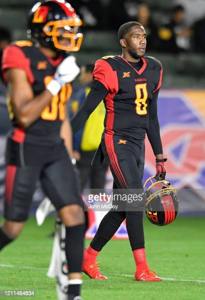 Josh Johnson of the LA Wildcats while playing the Tampa Bay Vipers at Dignity Health Sports Park during an XFL game on March 8 2020 in Carson...