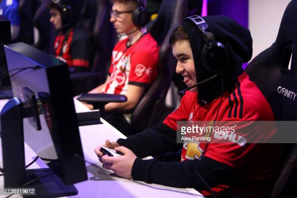 Josh 'Jonesy17FIFA' Jones of Manchester United during day one of the 2019 ePremier League Finals at Gfinity Arena on March 28 2019 in London England