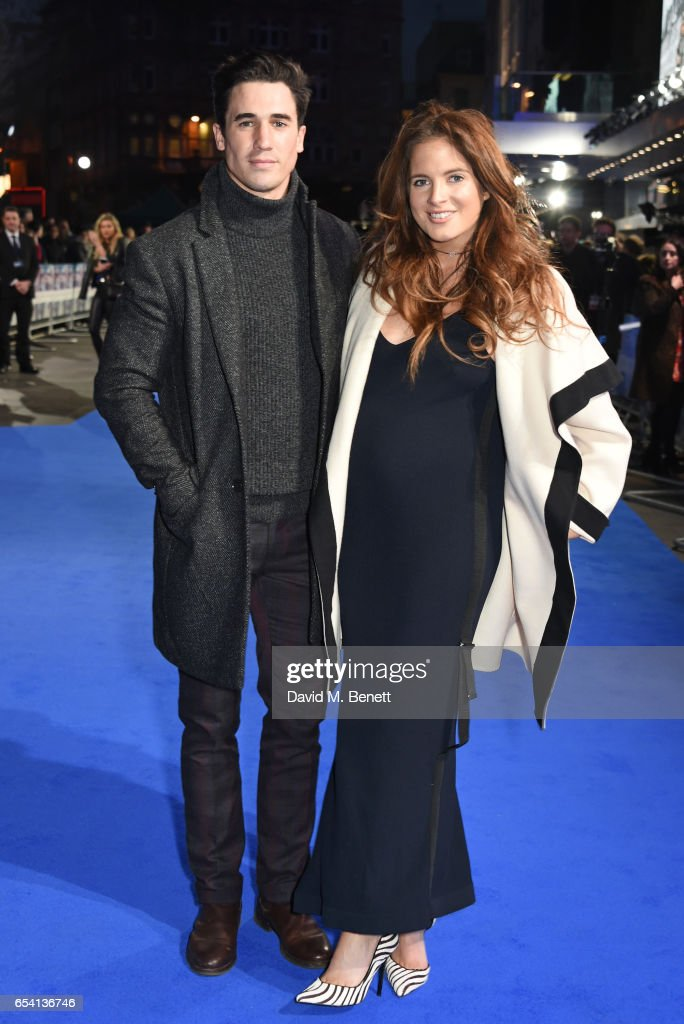Josh 'JP' Paterson (L) and Binky Felstead attend the World Premiere of 'Another Mother's Son' on March 16, 2017 in London, England.