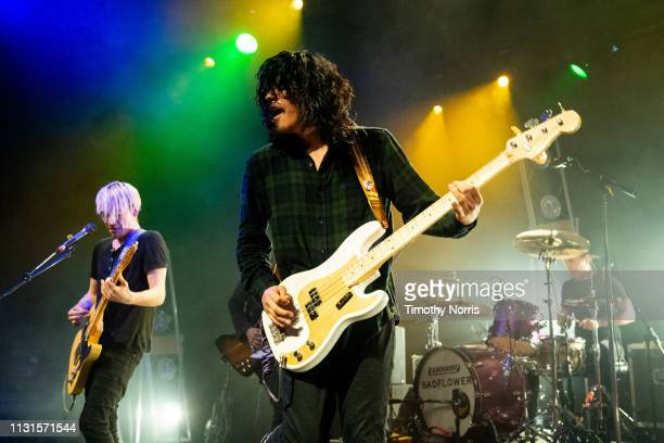 Josh Katz Alex Espiritu and Anthony Sonetti of Badflower perform at El Rey Theatre on February 22 2019 in Los Angeles California