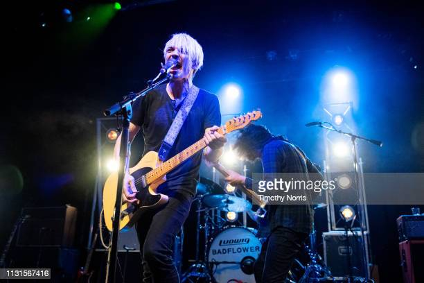 Josh Katz and Alex Espiritu of Badflower perform at El Rey Theatre on February 22 2019 in Los Angeles California