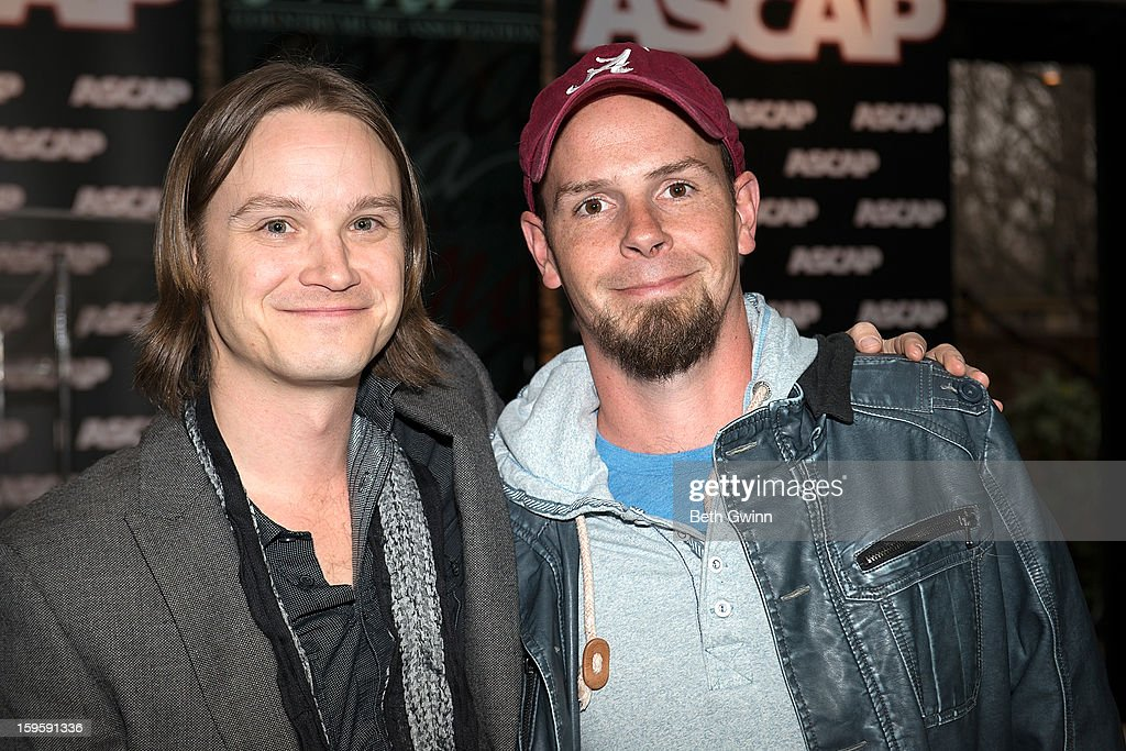 Josh Kear and Chris Tompkins attends the Blown Away #1 Party at ASCAP Building on January 16, 2013 in Nashville, Tennessee.