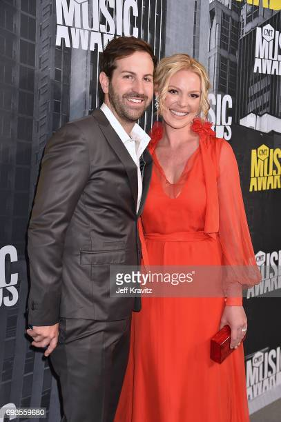 Josh Kelley and Katherine Heigl attend the 2017 CMT Music Awards at the Music City Center on June 7 2017 in Nashville Tennessee