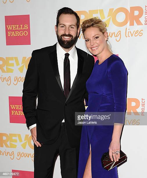 Josh Kelley and Katherine Heigl attend TrevorLIVE Los Angeles at the Hollywood Palladium on December 7 2014 in Los Angeles California