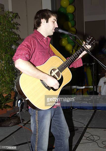 Josh Kelley sings his hit song Amazing during UCLA Dance Marathon Raising Money For Elizabth Glaser Pediatric Aids Foundation at UCLA in Los Angeles...