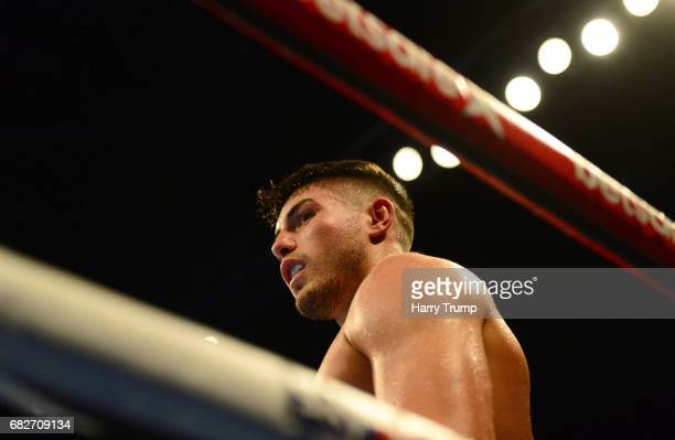 Josh Kelly looks on during the Welterweight Contest between Josh Kelly and Jony Vina at the Barclaycard Arena on May 13, 2017 in Birmingham, England.