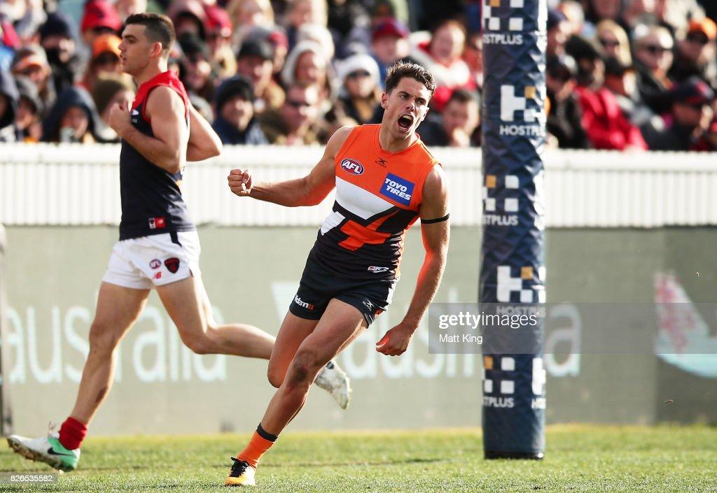 AFL Rd 20 - GWS v Melbourne : News Photo